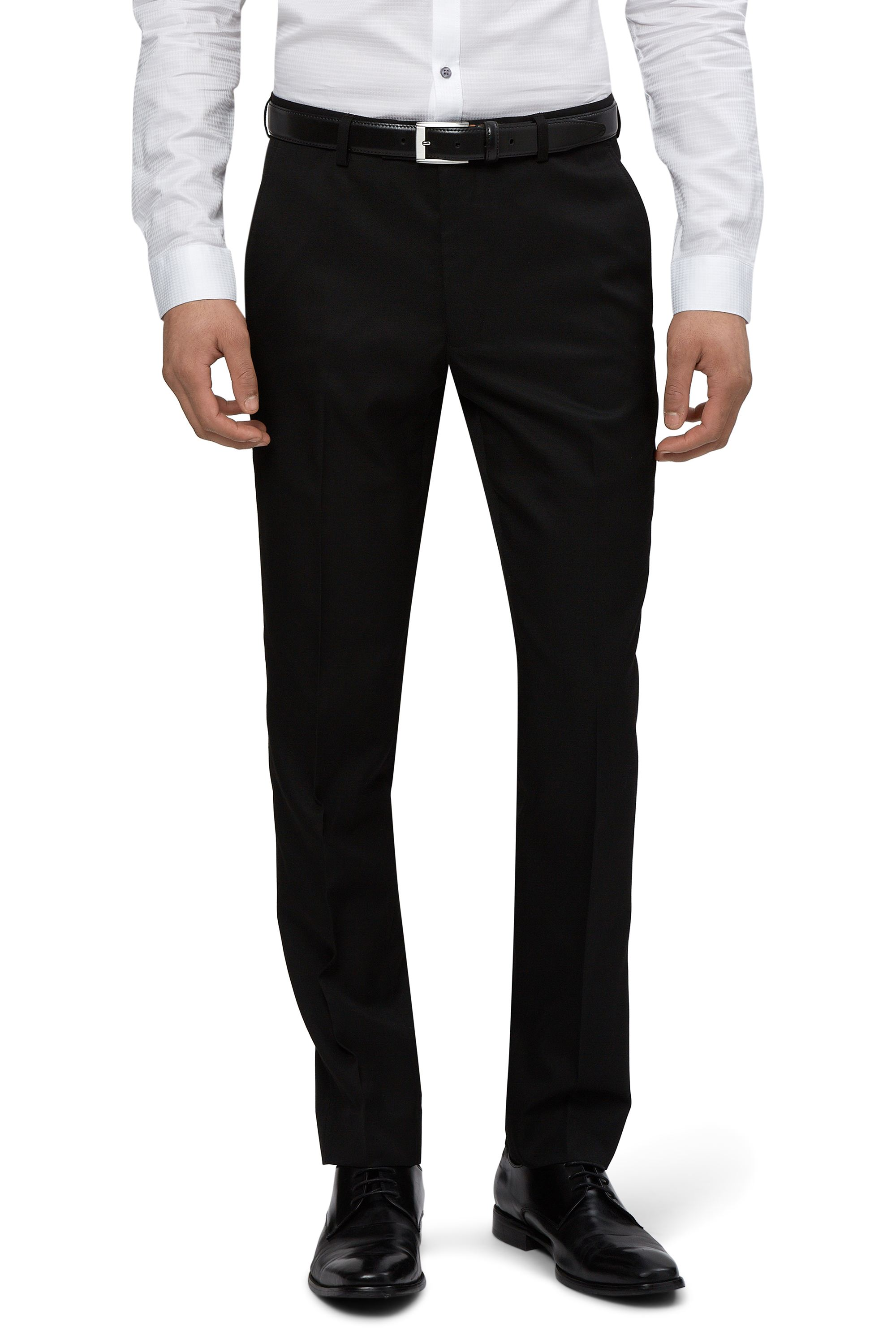 23e134149a9a Moss London Mens Black Suit Trousers Skinny Fit Flat Front Formal ...