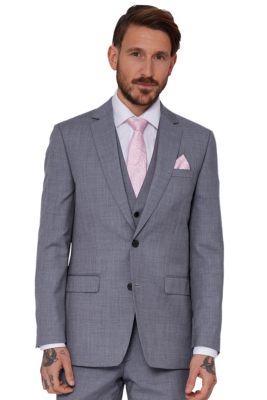 e6fde50ae0382a Moss 1851 Mens Suit Jacket Tailored Fit Light Blue Sharkskin Wedding ...