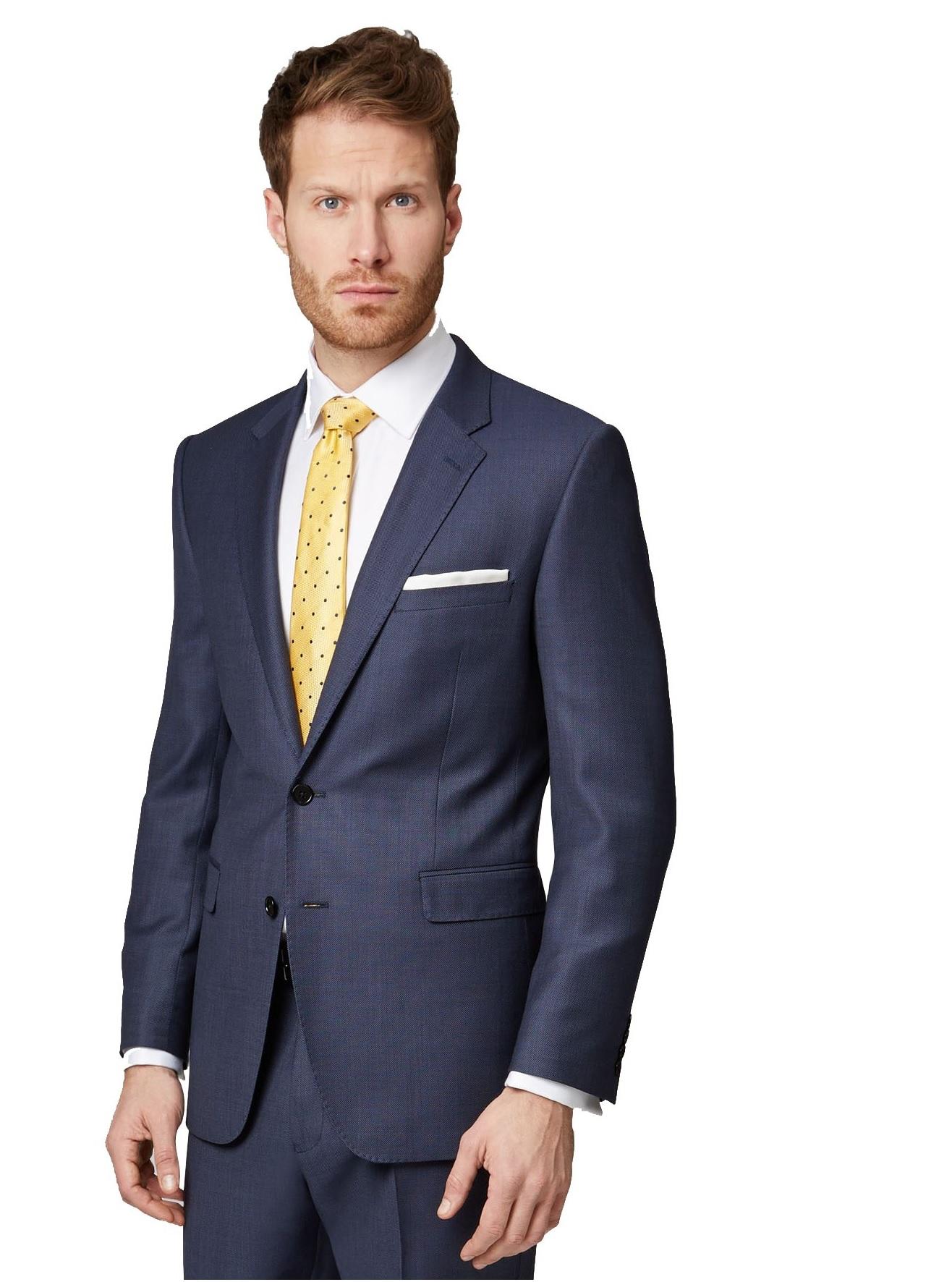 Ermenegildo Zegna Cloth Mens Navy Suit Jacket Regular Fit ...