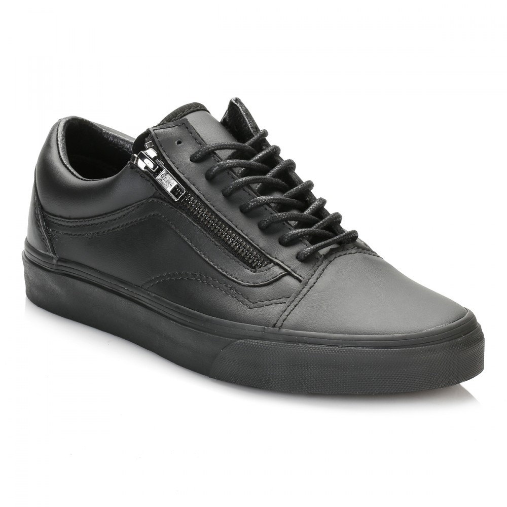 Furgonetas Viejos Zapatos De Cuero Negro Skool Postal (mujer) miM0wW