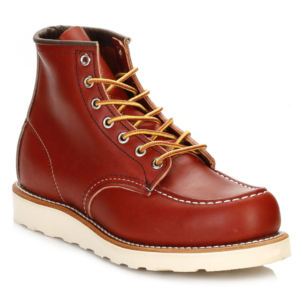 Dettagli su Dettagli su Scarpe da Uomo Red Wing Stivaletti, Oro Ruggine Portage Marrone, 6in MOC TOE, in pelle mostra il titolo originale Marrone, 6in MOC TOE, in pelle mostra il titolo originale