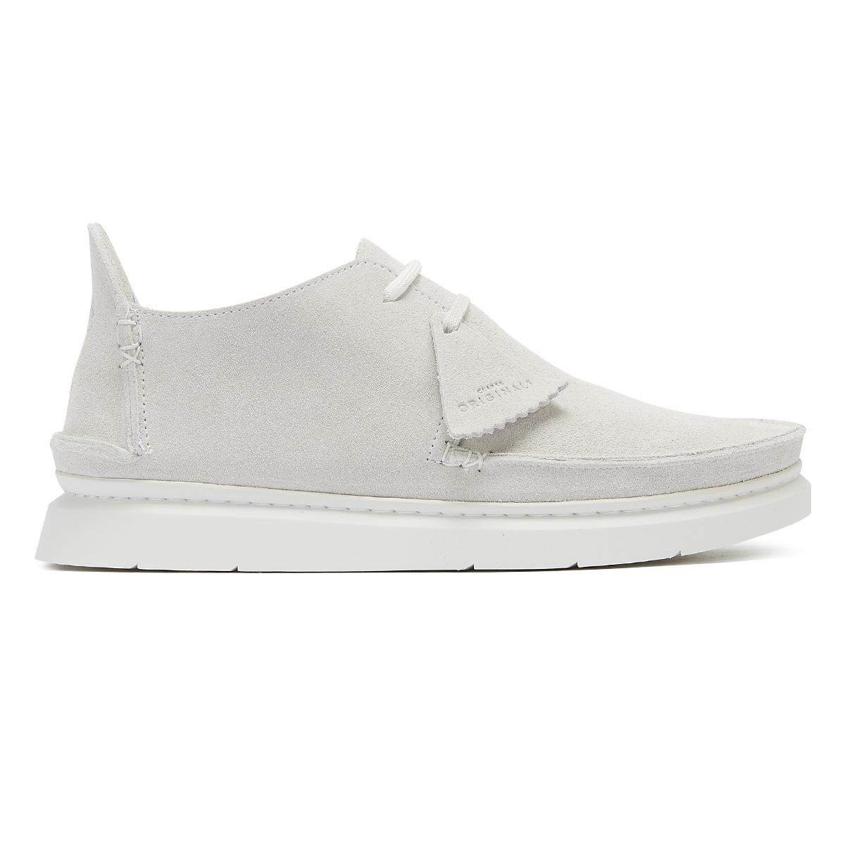 new arrival a599a 3cb41 Clarks Originals Seven Mens White Premium Suede Shoes Lace Up Casual
