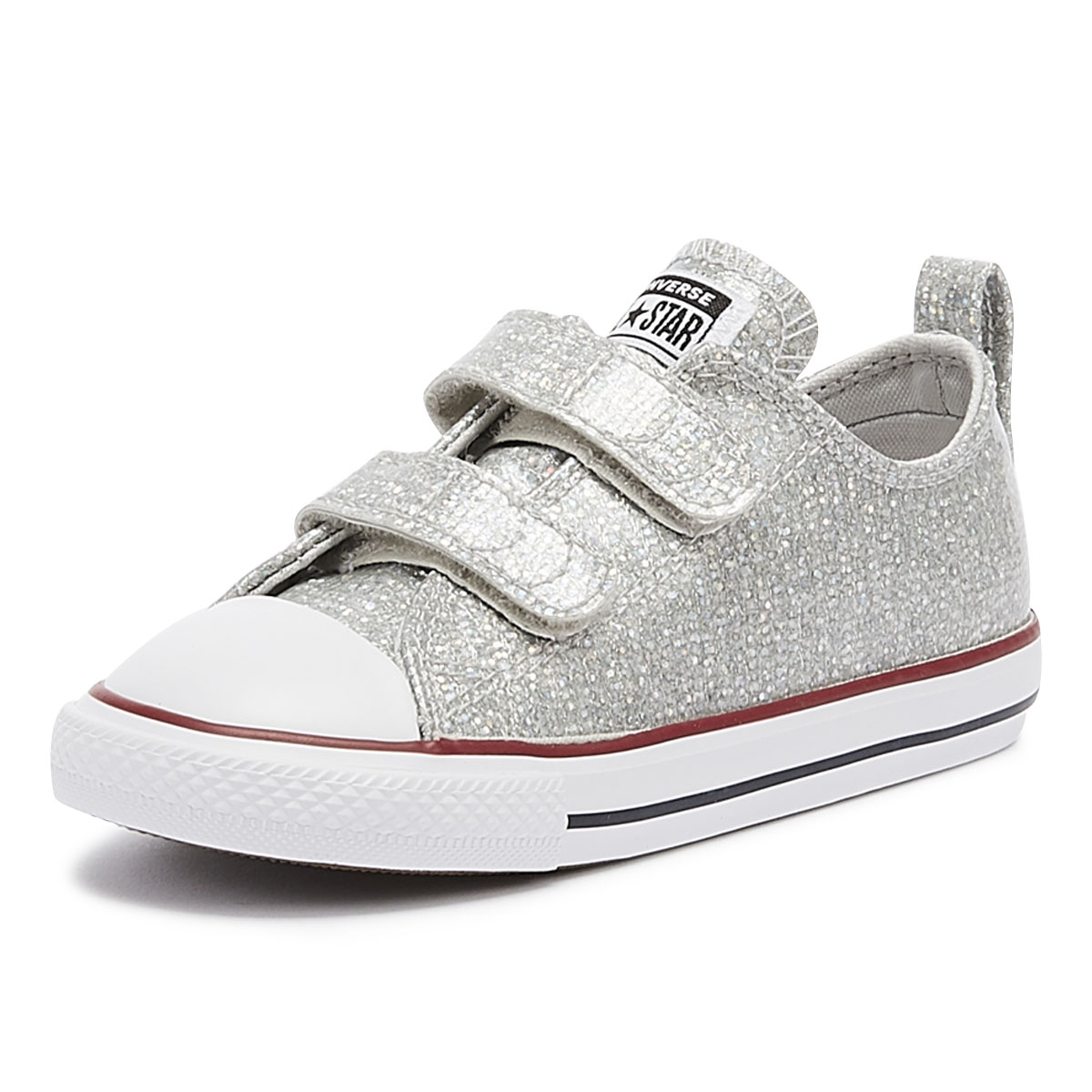 d7dee1c84c32 Details about Converse Chuck Taylor All Star 2V Toddlers Mouse Grey Ox  Trainers Kids Shoes
