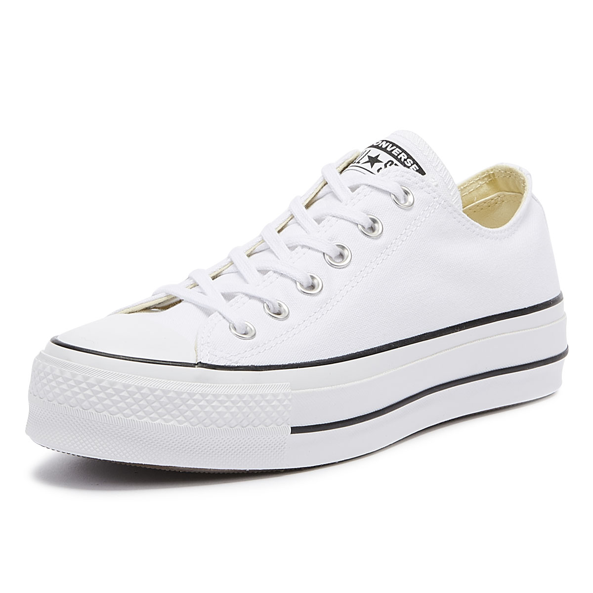 a091d5ab3415 Details about Converse Chuck Taylor All Star Lift Womens White Ox Trainers  Ladies Casual Shoes