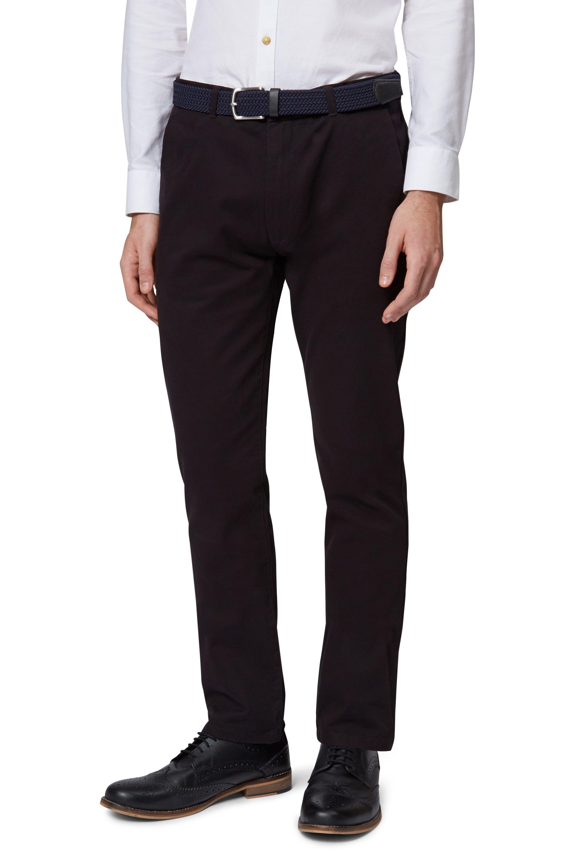 Moss-London-Mens-Black-Chinos-Slim-Fit-Trousers-