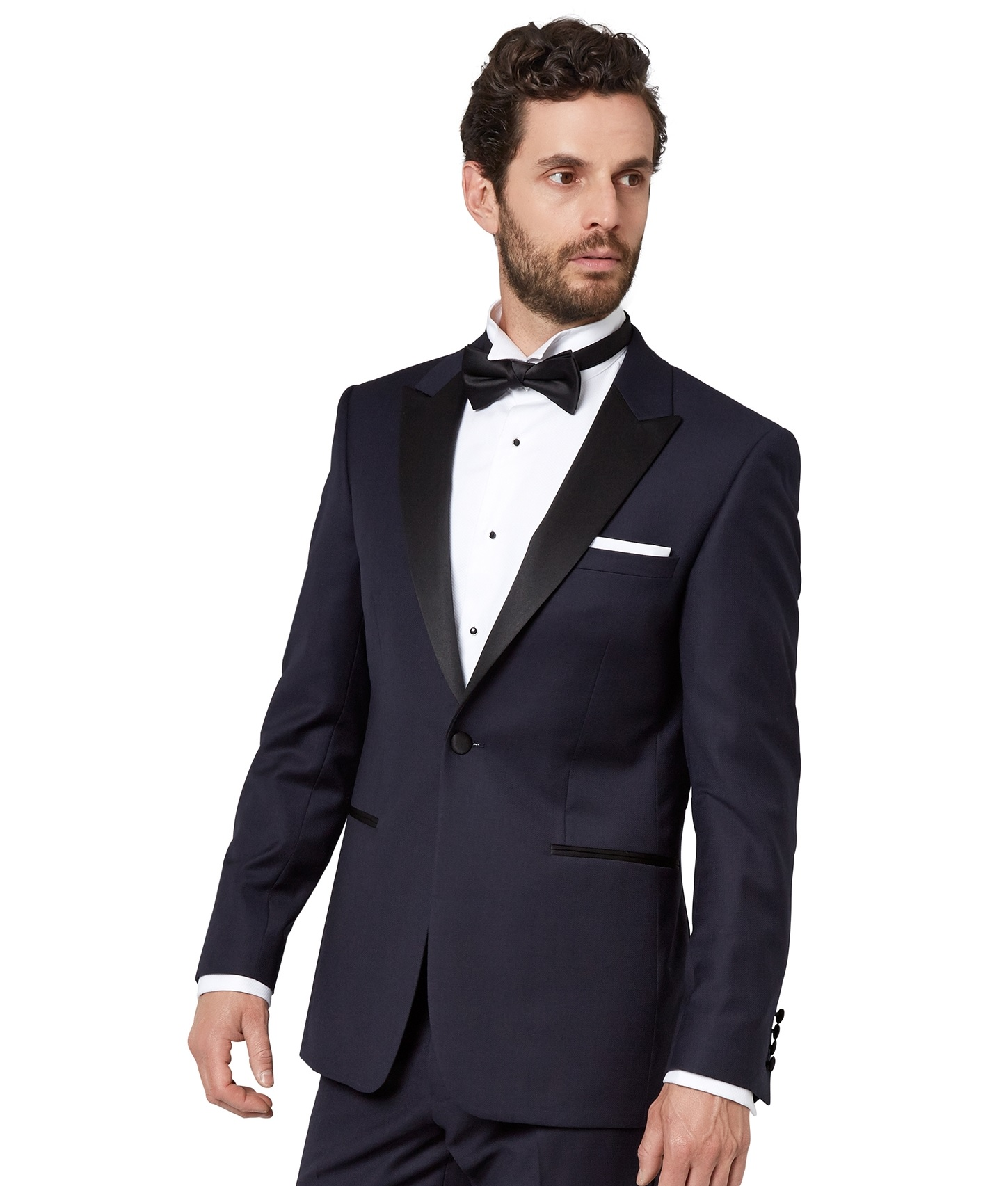 look for yet not vulgar buying now Details about Moss 1851 Mens Navy Blue Textured Tuxedo Jacket Tailored Fit  Single Breasted