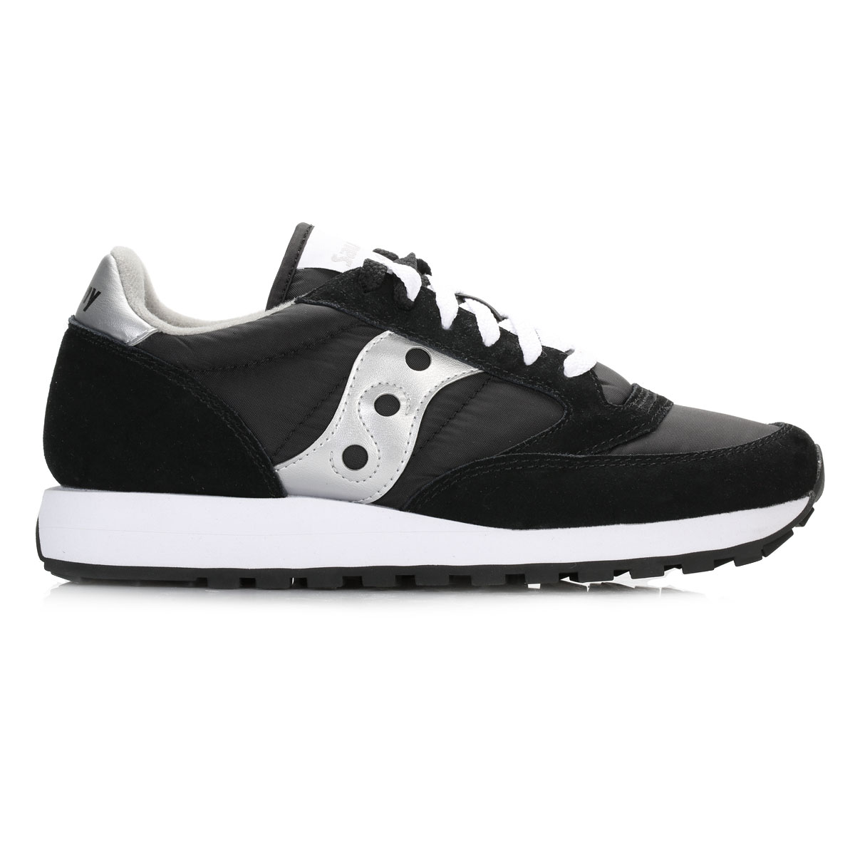 Saucony Womens Trainers, Jazz Jazz Jazz Original, Black & Silver, Suede, Sport shoes 71923c