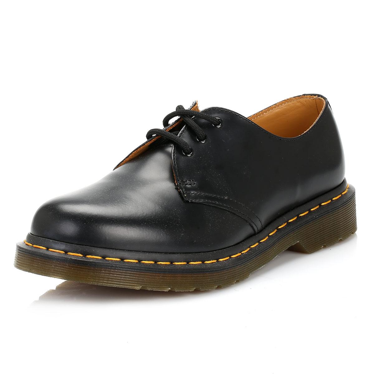 Dr. Martens Unisex Black 1461 Classic Shoes, Leather, Lace Up, Classic 1461 Smart Casual Docs 85e54a