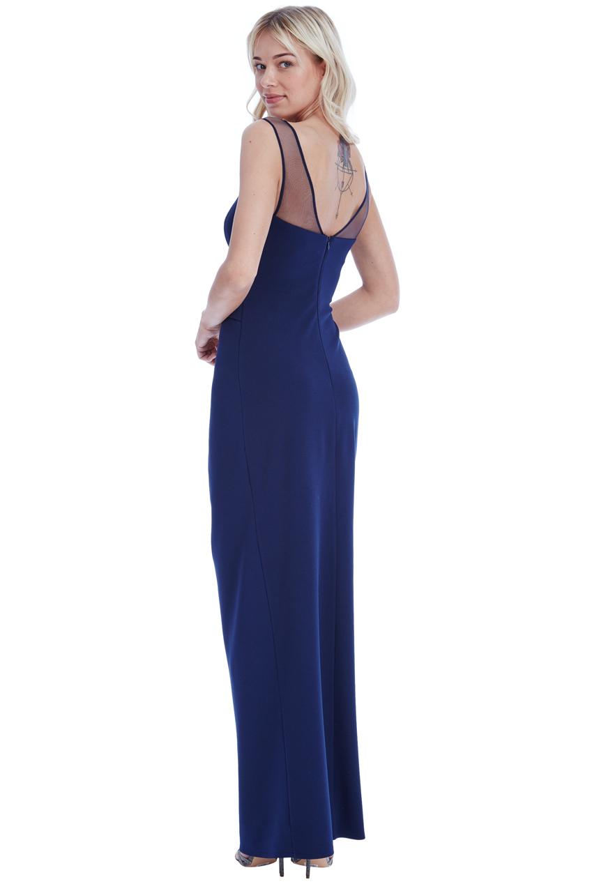 0934da217c6 Goddiva Womens Sweetheart Side Pleated Maxi Dress