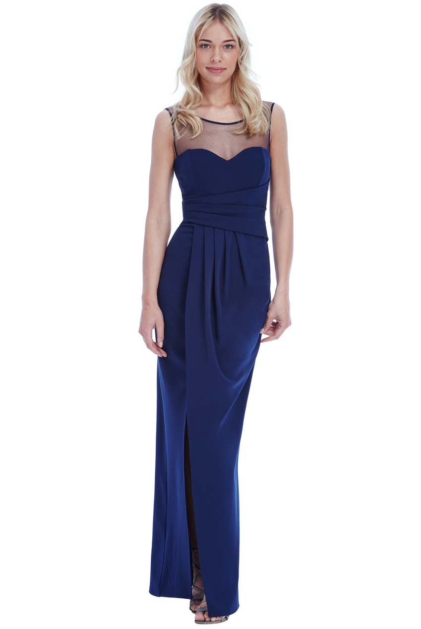 f246c442741 Details about Goddiva Womens Sweetheart Side Pleated Maxi Dress