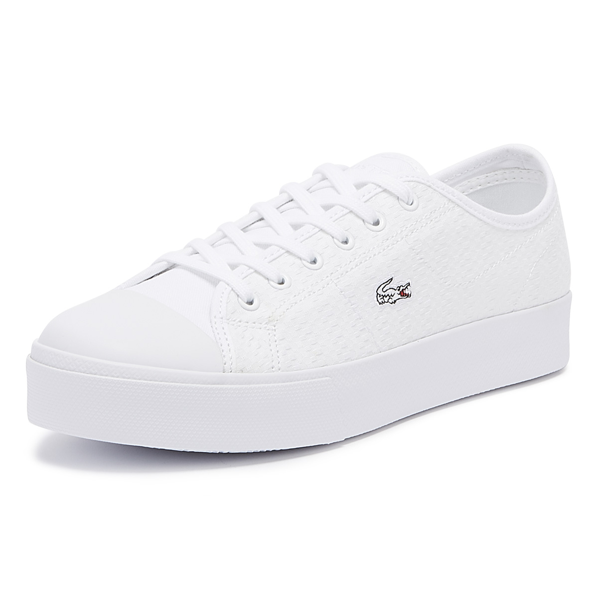 lacoste trainers womens white