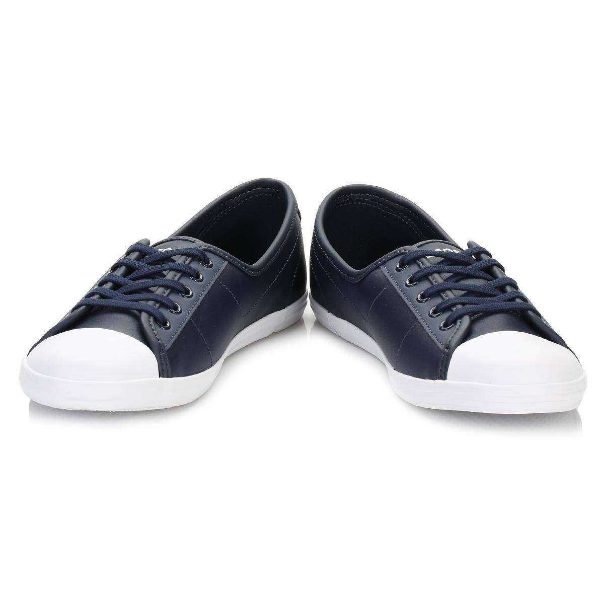 Lacoste Damenschuhe Navy Blau Trainers Ziane BL 1 SPW Trainers Blau Leder Casual Schuhes Flats cec7da