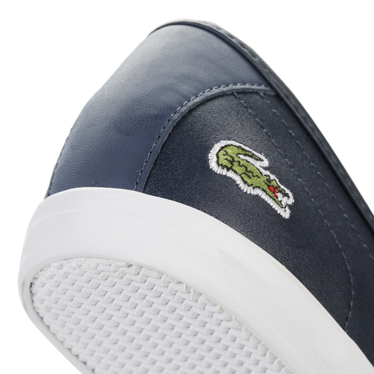 b3d20bad722e4 Lacoste Womens Navy Blue Ziane BL 1 SPW Trainers Leather Casual ...