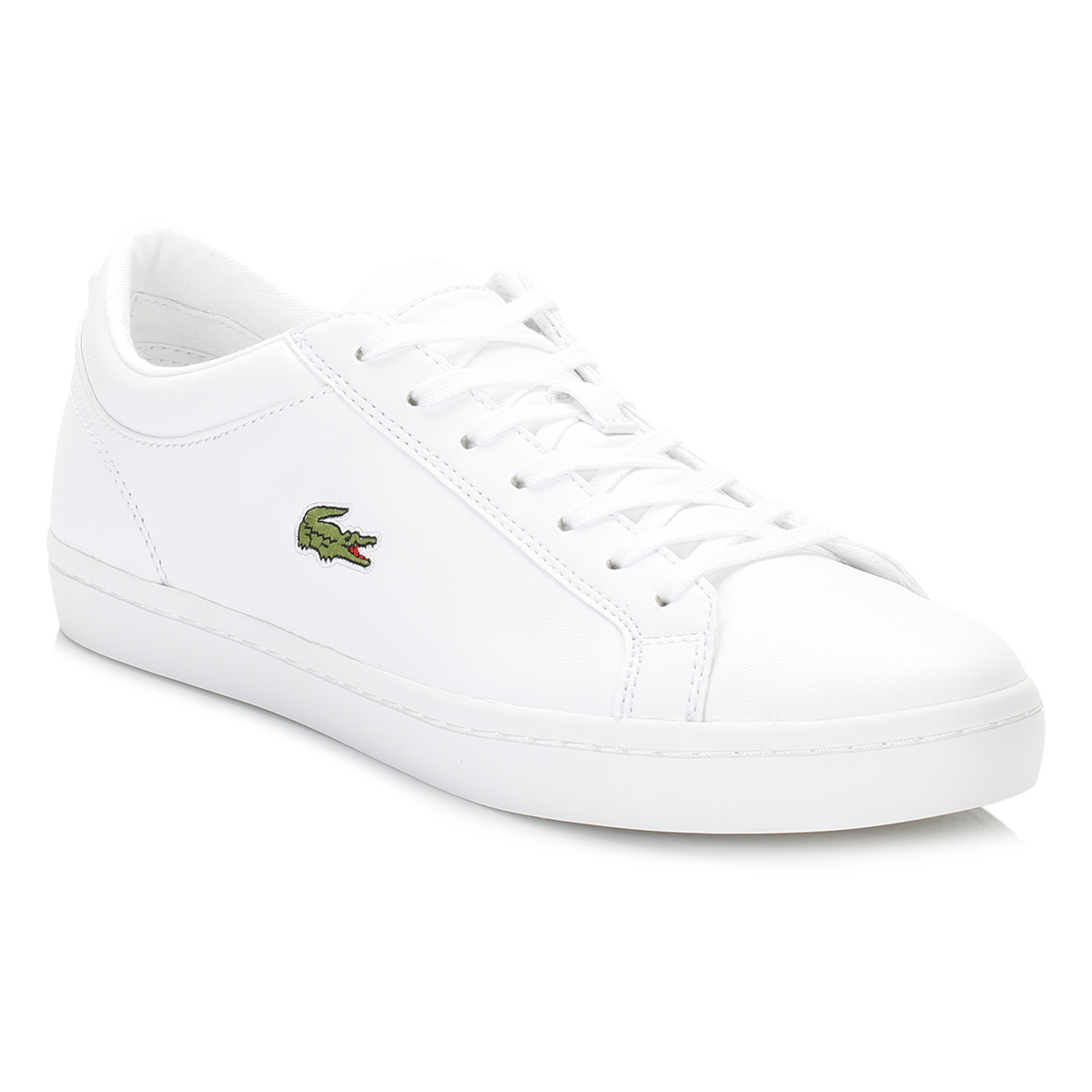 b5fa449b81 Details about Lacoste Womens White Trainers, Straightset BL1 SPW, Lace Up,  Casual Sneaker Shoe