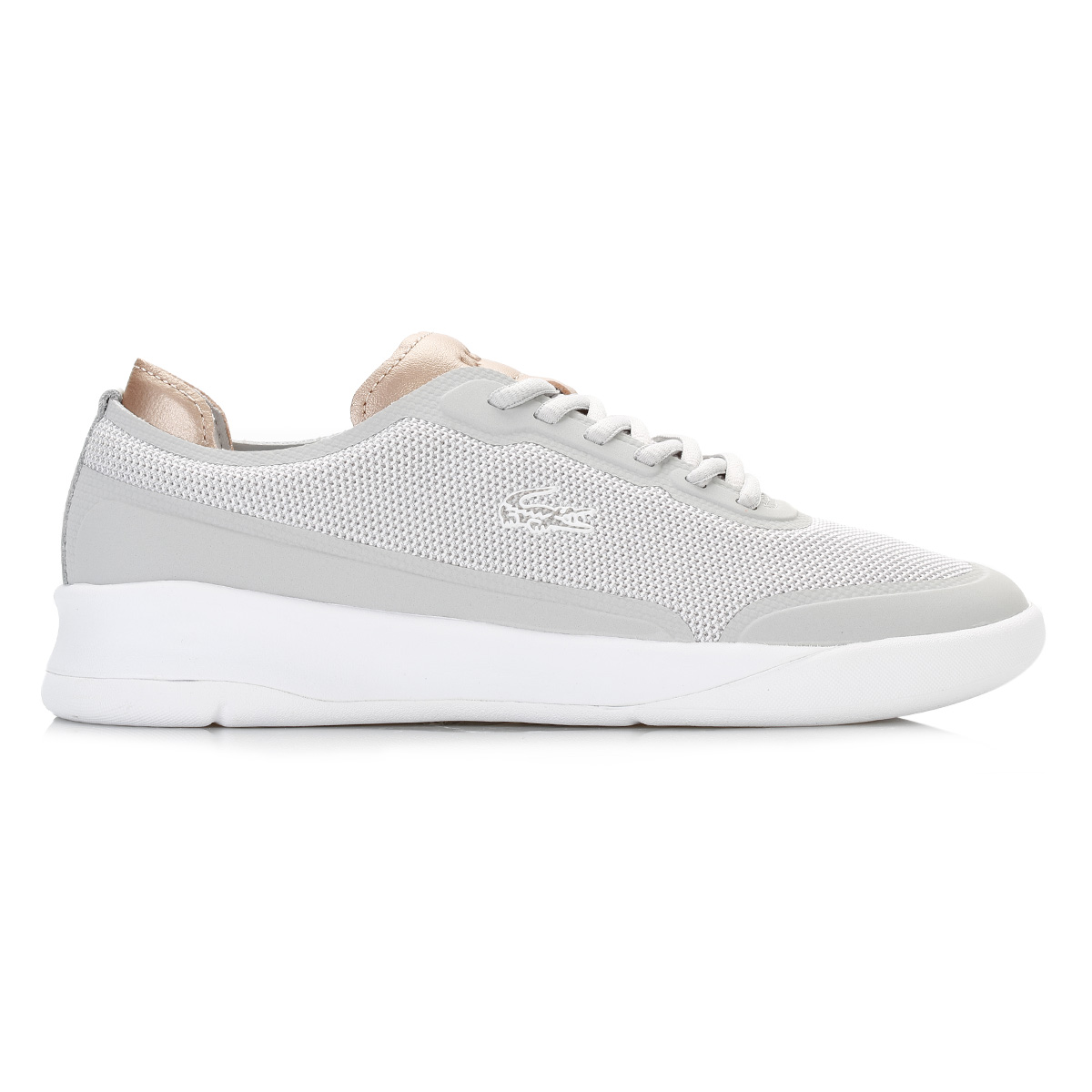 b5edad753600 ... a white durable outsole with a dual density midsole for stability and a  removable moulded OrthoLite in-sock. Complete with signature Lacoste  branding.