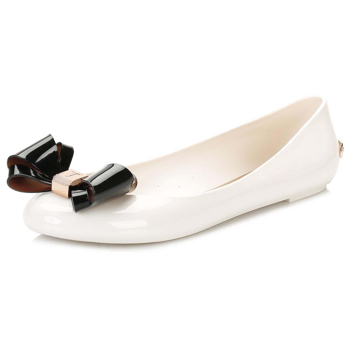 d6733e9a72bc4 Details about Ted Baker Womens White Julivia Ballerina Flats