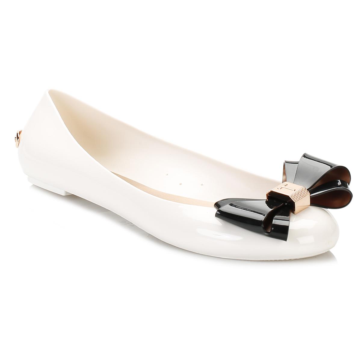4f0f45e6dfb22 Ted Baker Womens White Julivia Ballerina Flats