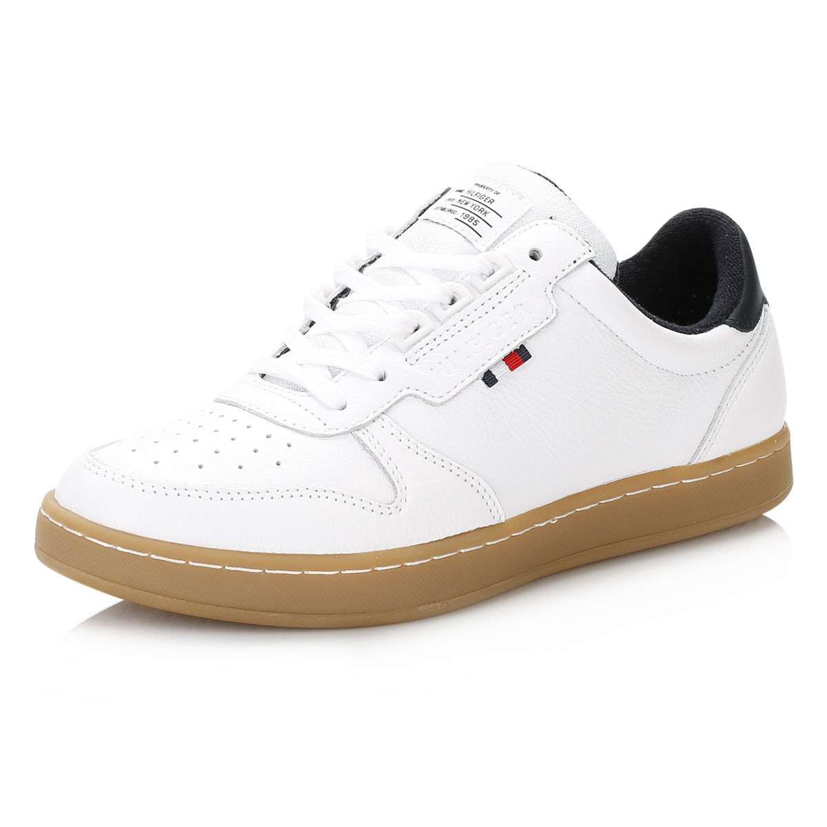 eb259621c Tommy Hilfiger Mens White Hoxton 1A1 Trainers