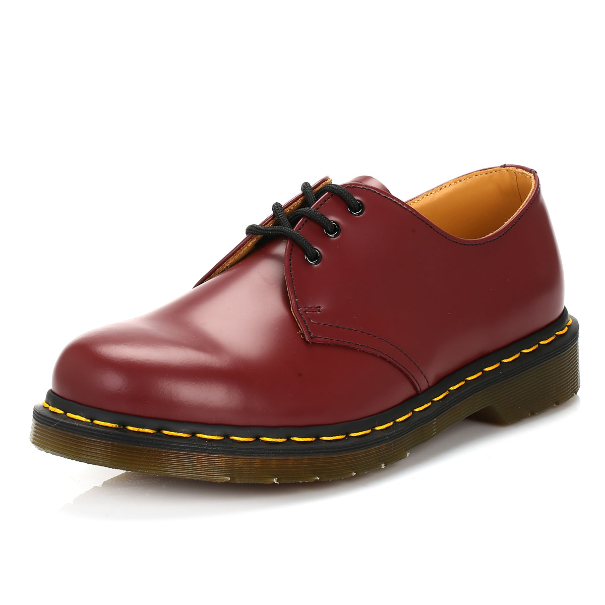 dr martens unisex cherry red casual shoes mens womens lace up leather docs ebay. Black Bedroom Furniture Sets. Home Design Ideas
