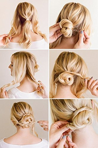 Hair Styling Spiral Spin Screw Bobby Pin Gold Brown Hair Clip Twist Barrette