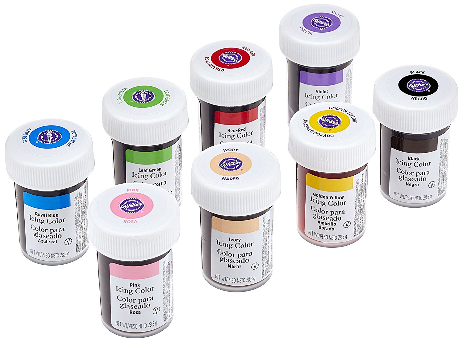 Wilton Icing Colour Gel Paste for Cake & Cupcake Decorating - 18 ...