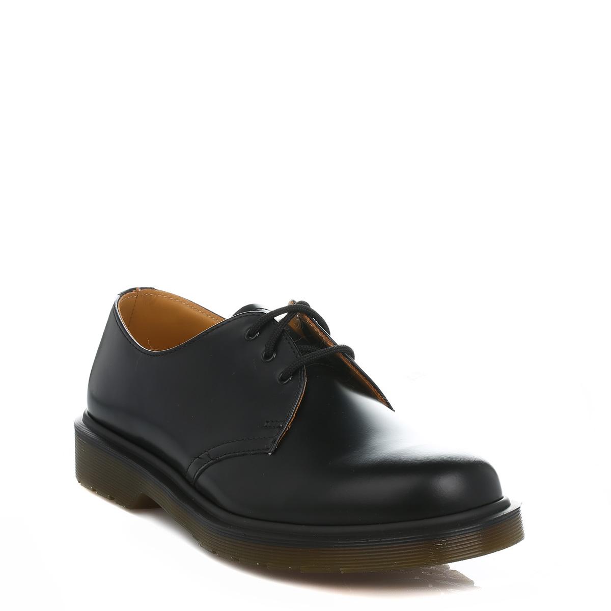 Dr. Martens Unisex Mens Damenschuhe Docs schwarz 1461 Smooth Leder Smart Casual Schuhes