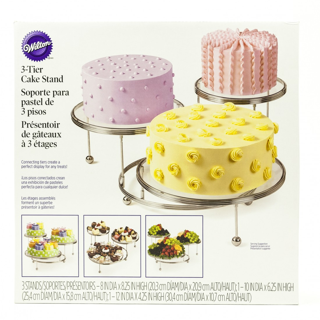 Wilton Cakes N More 3 Tiered Party Stands Are Great For Showcasing An Desserts Contemporary Stairstep Stand With Crystal Clear Plates Puts The Focus