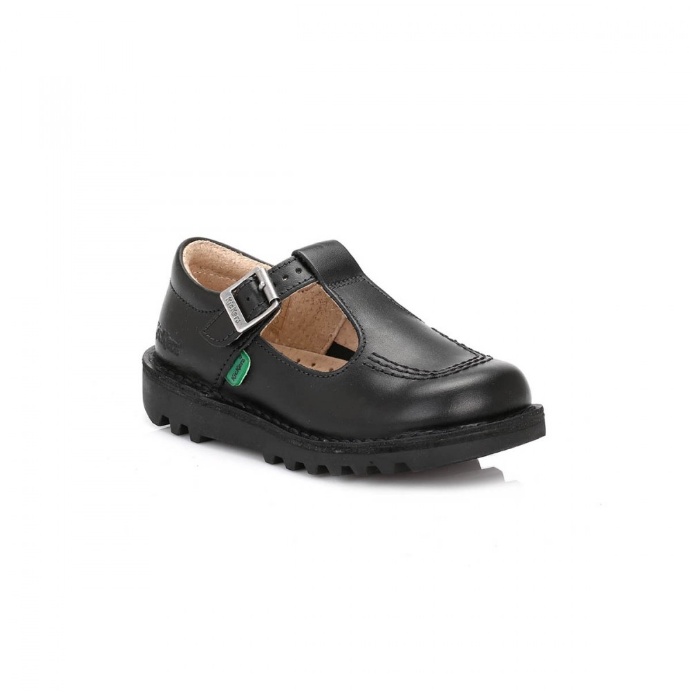 9877 Kickers Kick T iCore Leather Buckle Back to School Girls Shoes