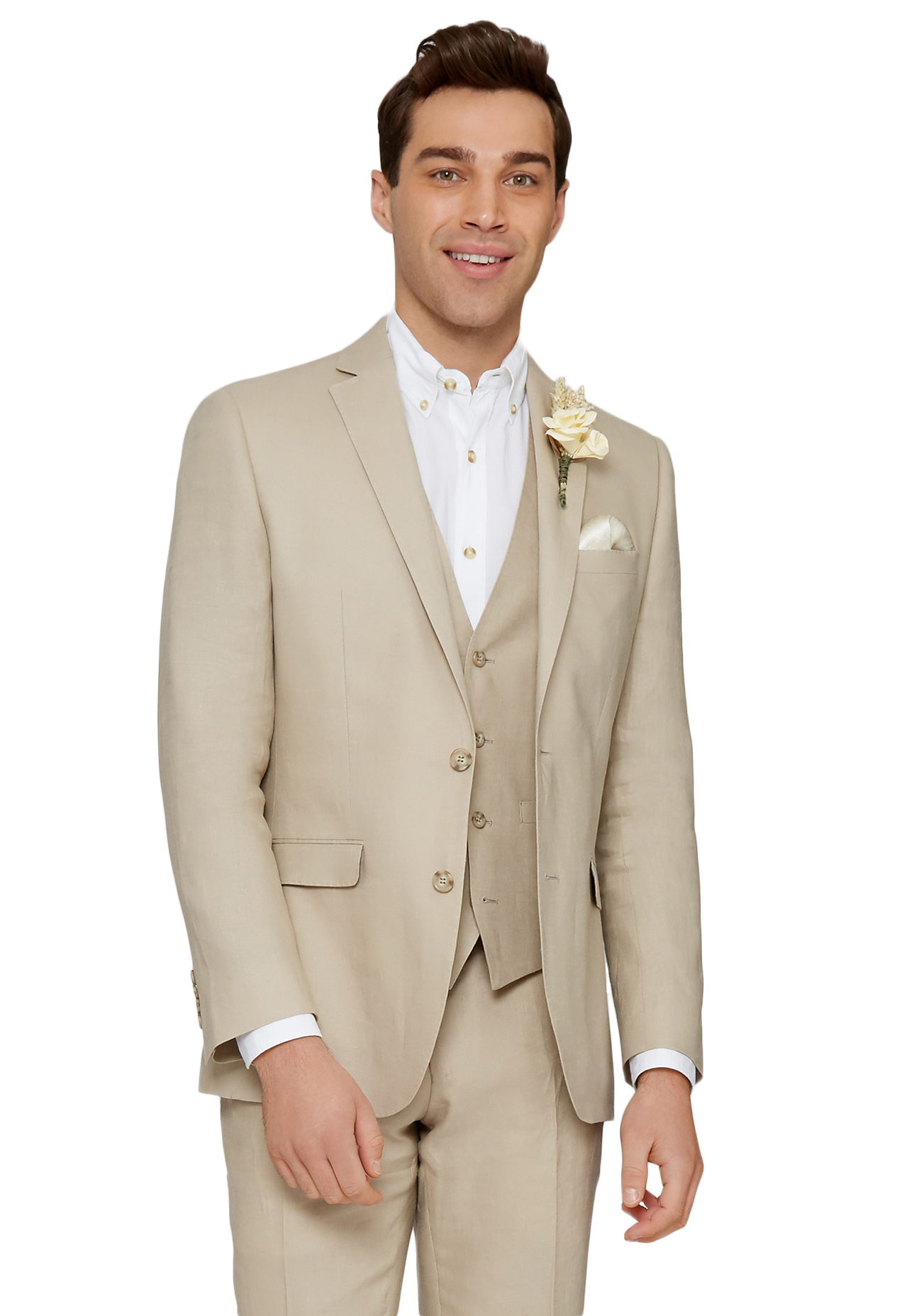 100% top quality top design reliable quality Details about Moss 1851 Mens Stone Beige Suit Jacket Tailored Fit Linen Two  Button Formal