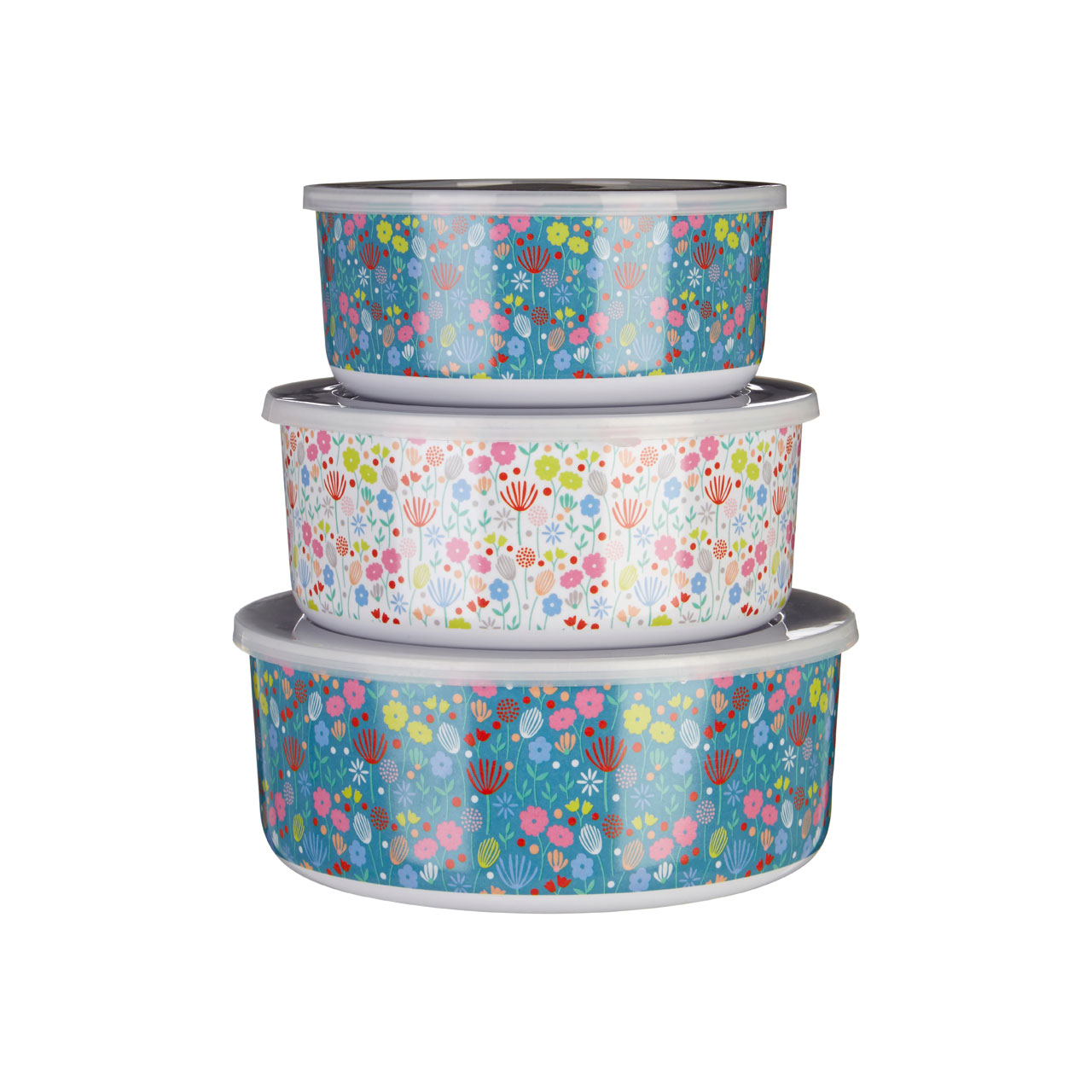 Mimo Casey Melamine Tubs Set of 3 Kitchen Containers Food Storage ...