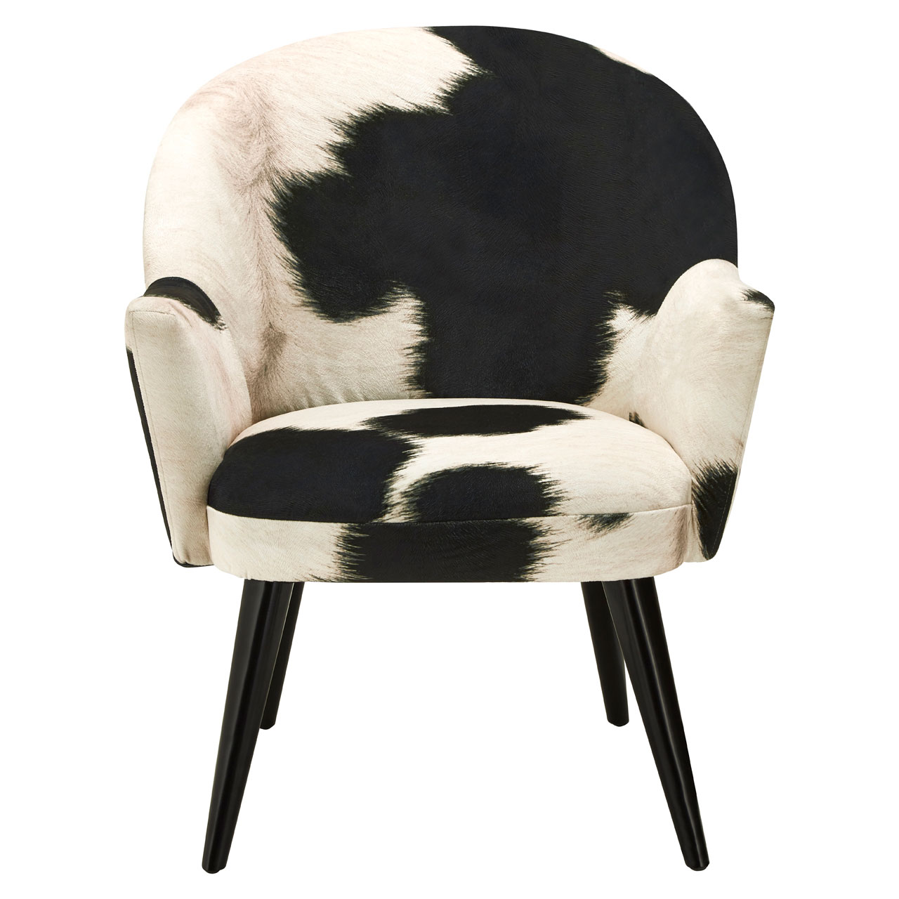 Image Is Loading Ringo Armchair Cowhide Print Black And White Sofa