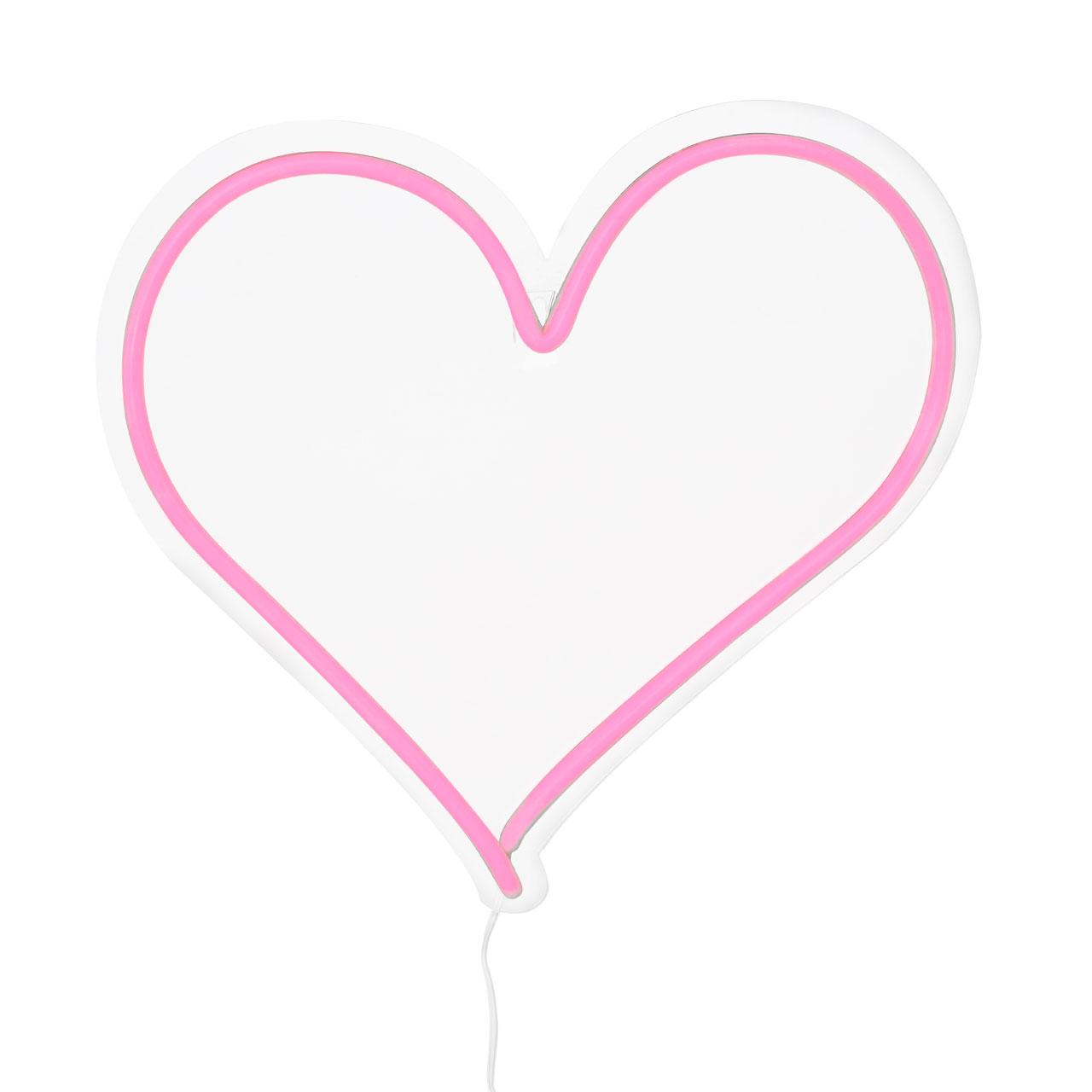 neon heart light pink 5018705382760 ebay