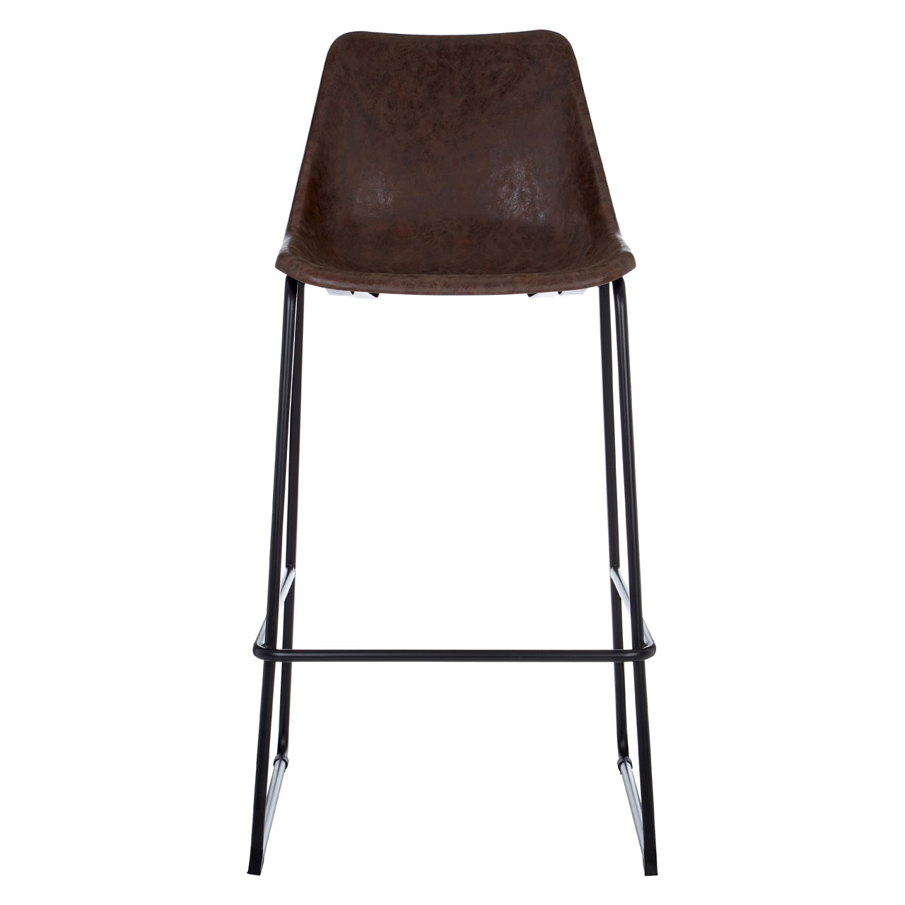 Image Is Loading Dalston Bar Stool Vintage Mocha Faux Leather Seat