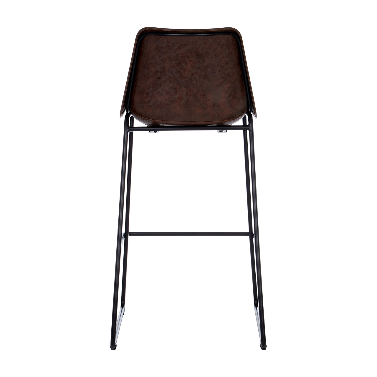 Dalston Bar Stool Vintage Mocha Faux Leather Seat