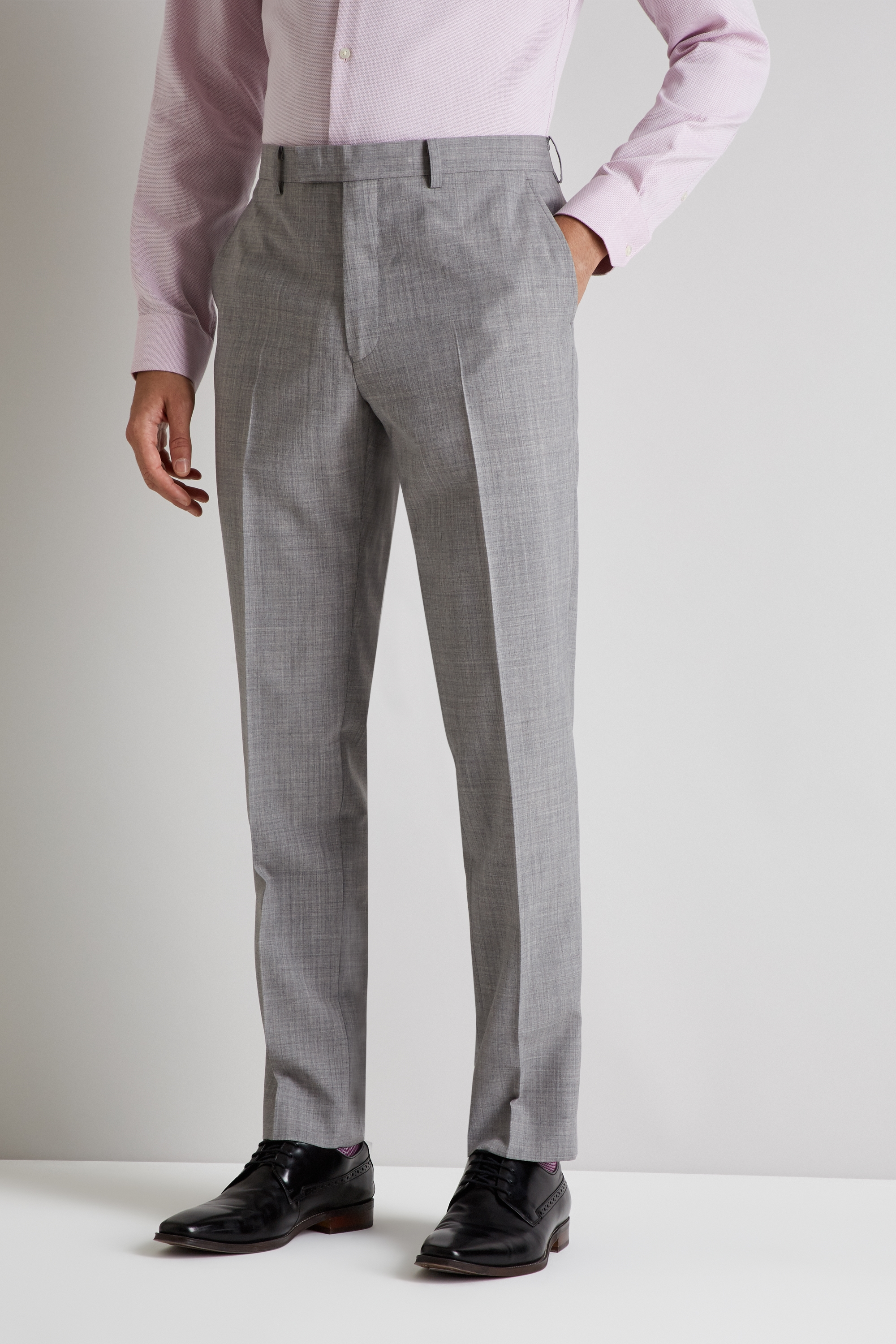 Details about French Connection Mens Grey Trousers Slim Fit Suit Pants Flat  Front Belt Loops ca77144e7784