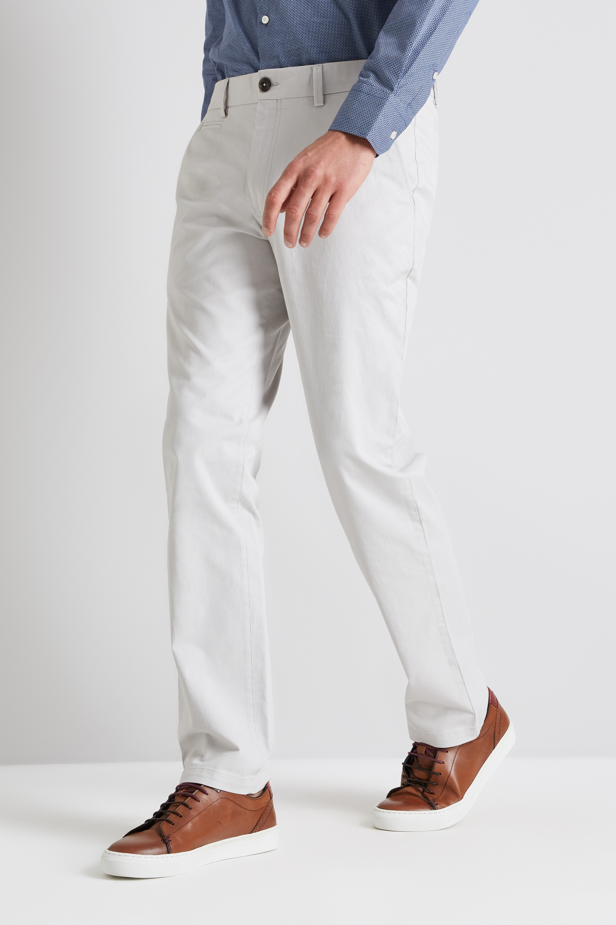 Details about Moss 1851 Mens Chinos Tailored Fit Stone White Stretch  Trousers Casual Pants c3c1b275acfa2