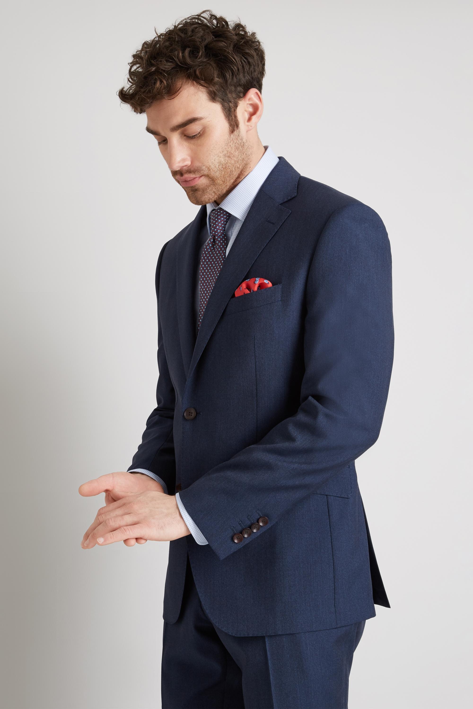 b8a6a59a24 Details about Lanificio F.lli Cerruti Dal 1881 Cloth Suit Jacket Tailored  Fit Indigo Texture