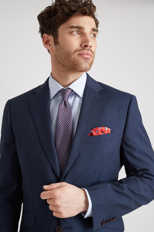 fce66b3937 Lanificio F.lli Cerruti Dal 1881 Cloth Suit Jacket Tailored Fit Indigo  Texture