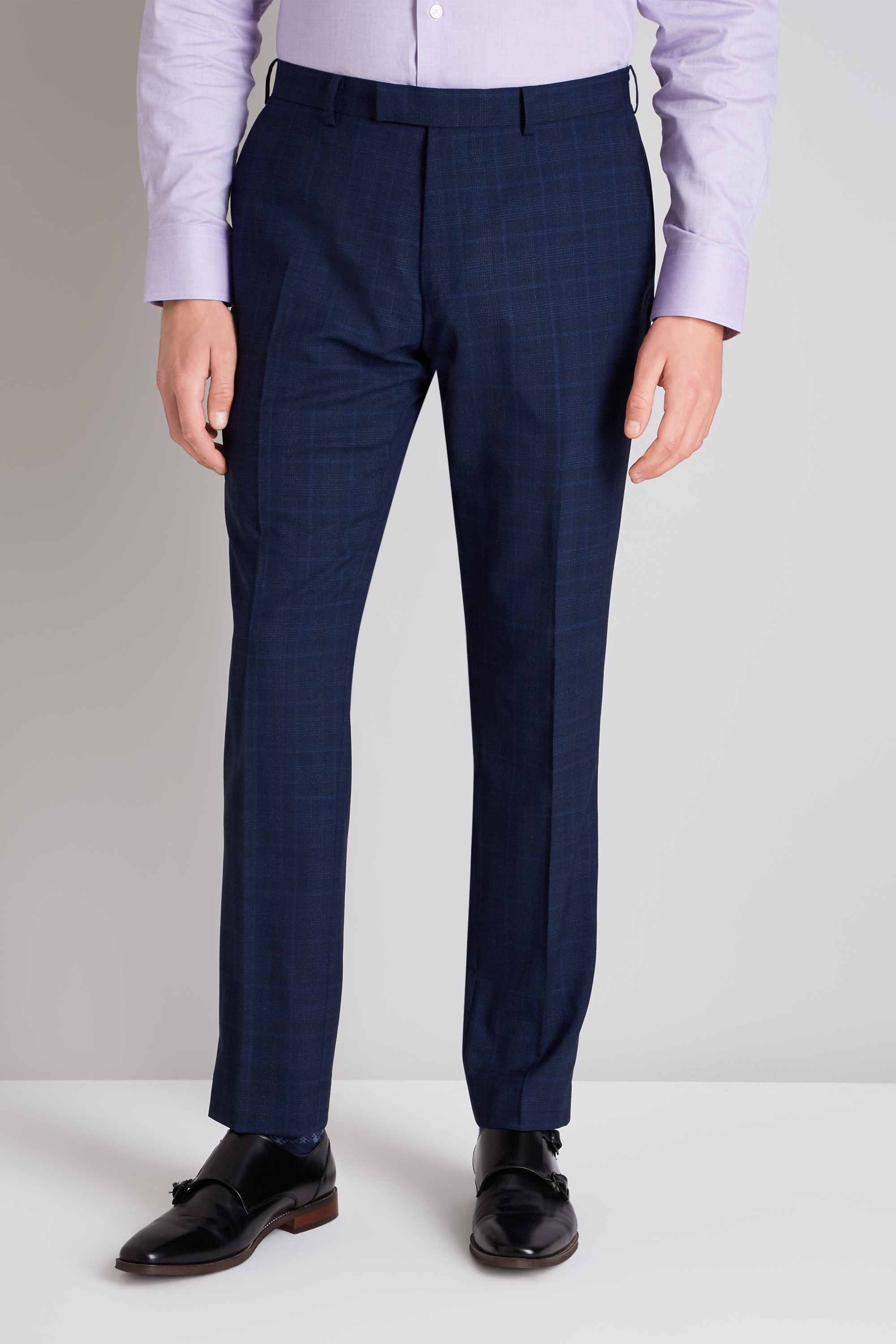 Men/'s The collection Navy Broken Check Tailored Fit Suit 42S W36 L29 RRP£129.00