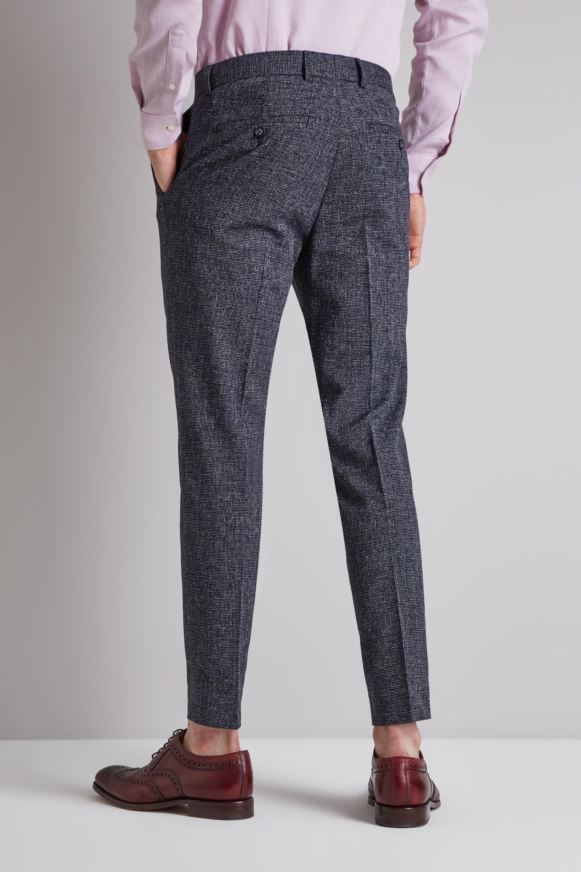 c993d7ca51 Details about Moss London Mens Navy Blue Seersucker Trousers Skinny Fit  Suit Pants Belt Loop