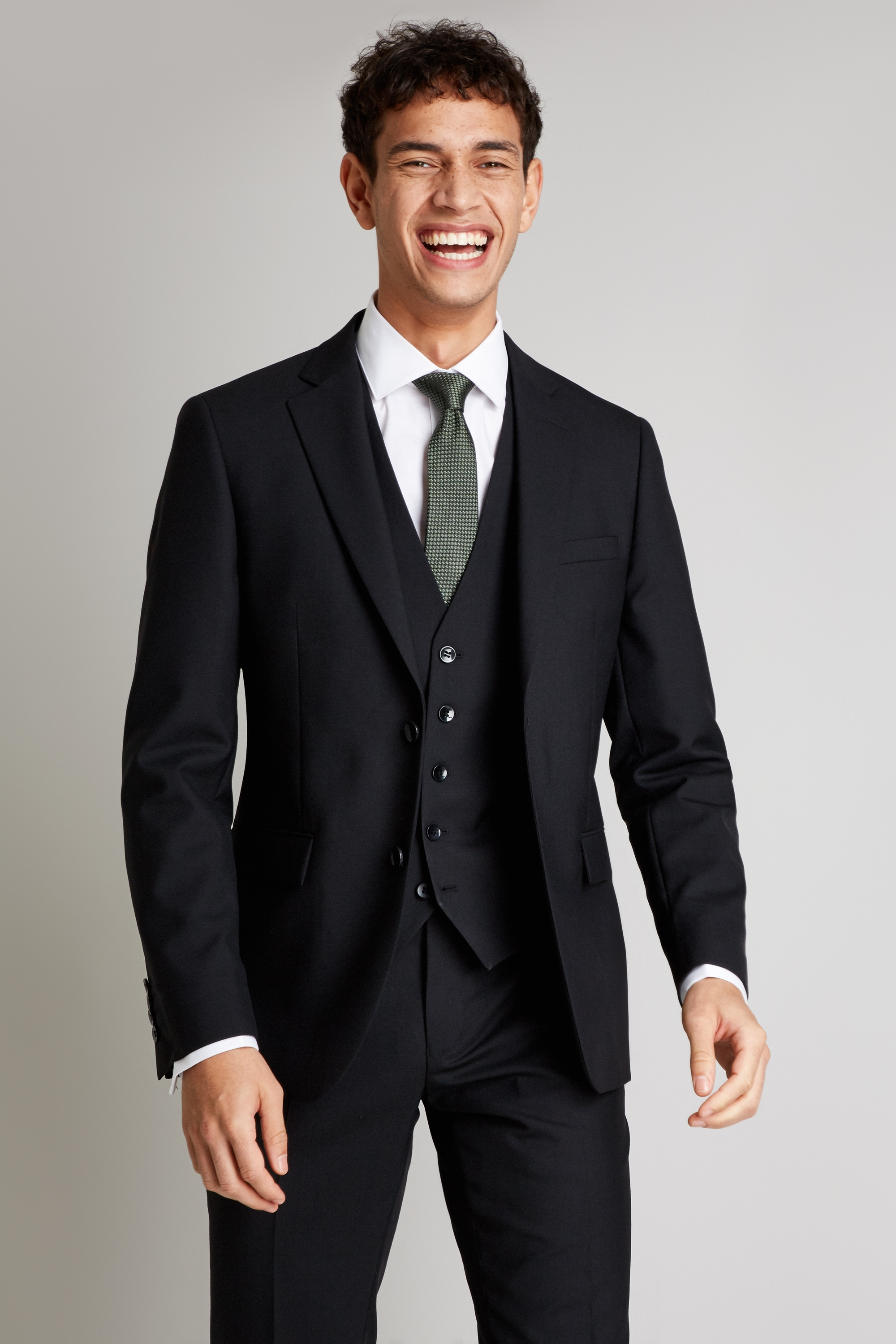 brand quality hot-selling clearance world-wide selection of Details about DKNY Mens Black Suit Jacket Slim Fit Single Breasted Wool  Blazer 2 Button