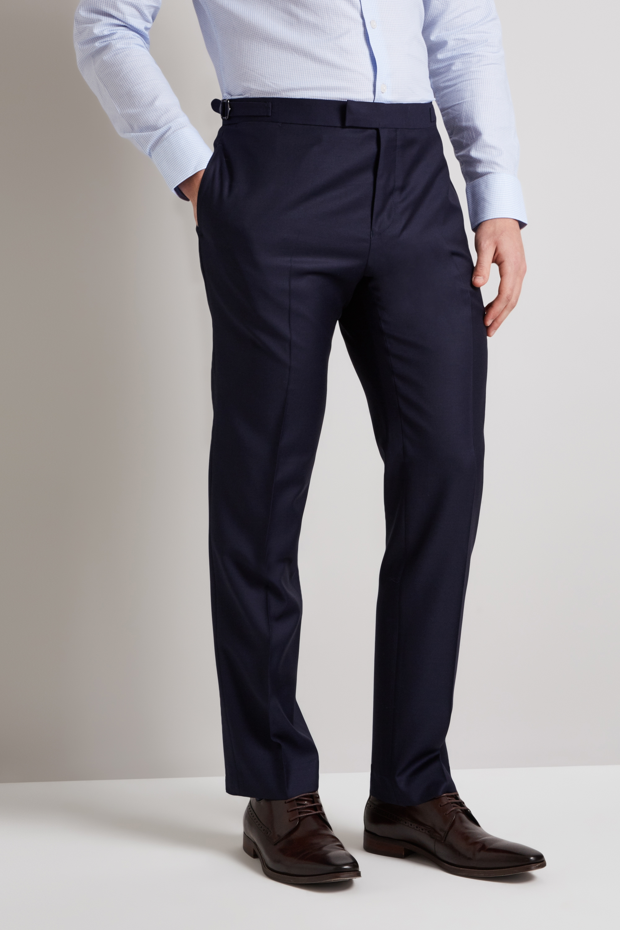 world-wide renown timeless design outlet online Details about Hardy Amies Mens Suit Trousers Tailored Fit Plain Navy Blue  Formal Pants
