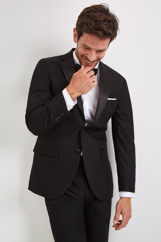 ee9a2e21 Moss Esq. Mens Suit Dress Jacket Regular Fit Black Notch 2 Button Formal