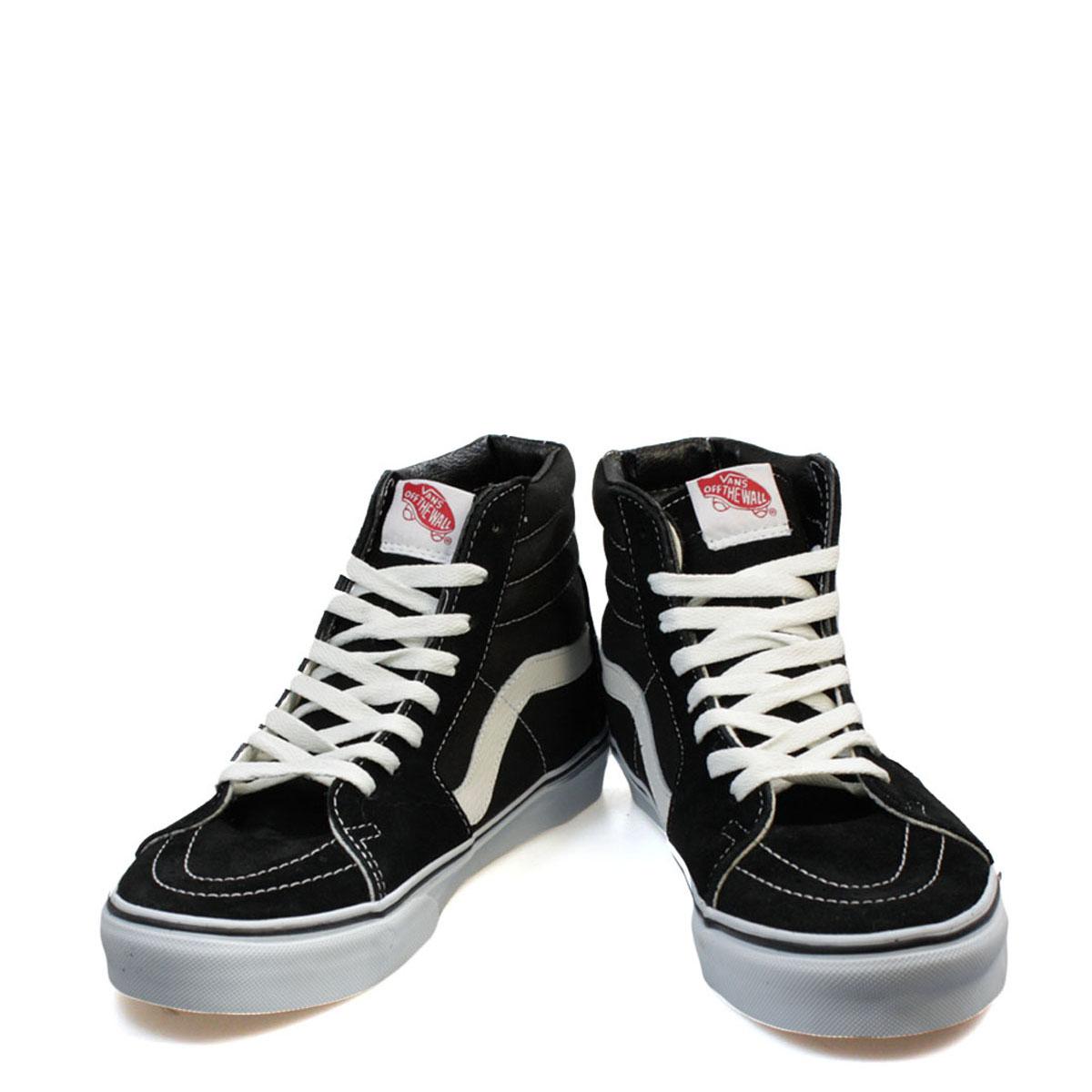 vans unisex sk8 black hi top trainers old skool suede lace up casual shoes ebay. Black Bedroom Furniture Sets. Home Design Ideas