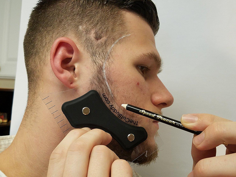 2017 New B Beard Trimmer Shaping Tool Gentleman Trim Template Bs Shaving Hair Molding