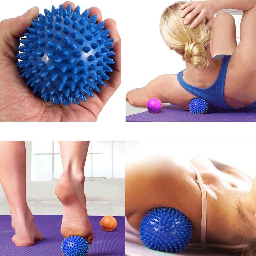 Spiky Massage Balls Blue Red Amp Yellow 3 Sizes Stress