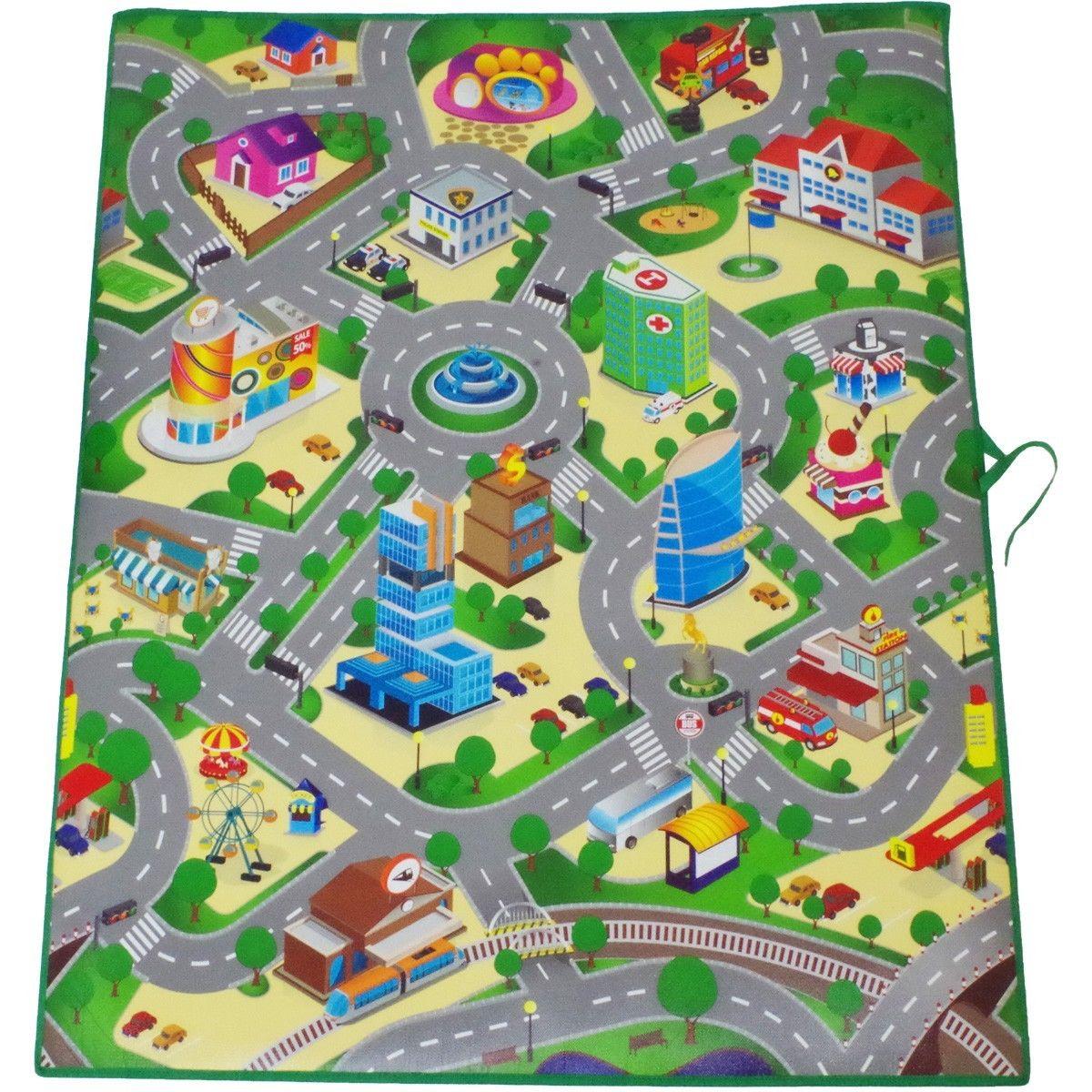 Eddy Toys Giant Kids Playmat With City Streets Eva Foam