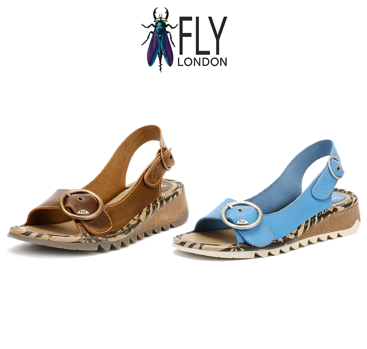cc1ee9f3d82e Details about Fly London Womens Slingback Sandals