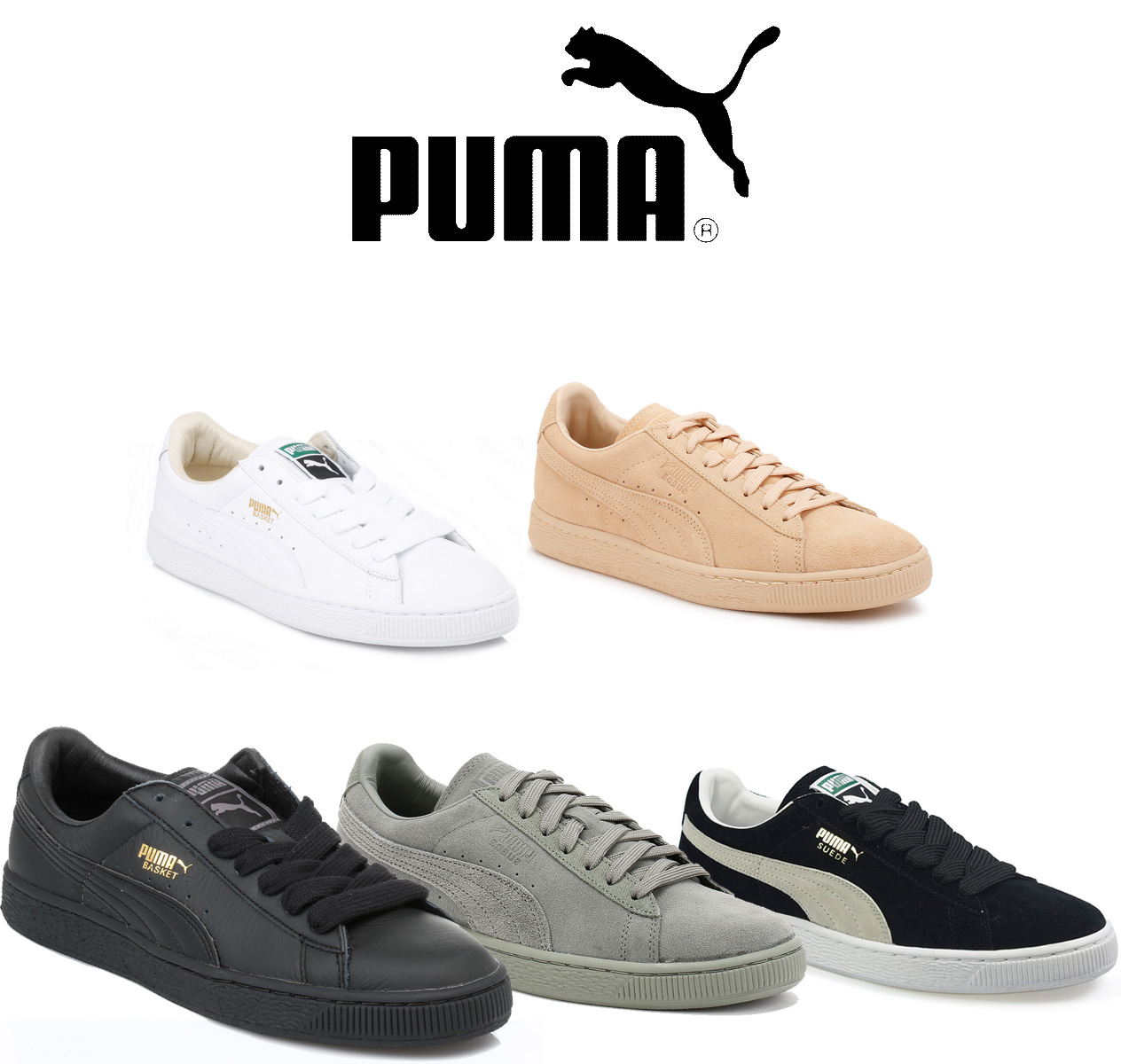 PUMA ORIGINALS CARO LOW MENS RETRO SUEDE LEATHER CASUAL LACE UP TRAINERS RRP £65