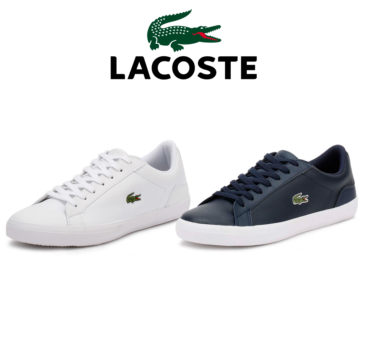 25ea81077937a8 The sleek and stylish Lacoste Lerond trainers feature a synthetic upper